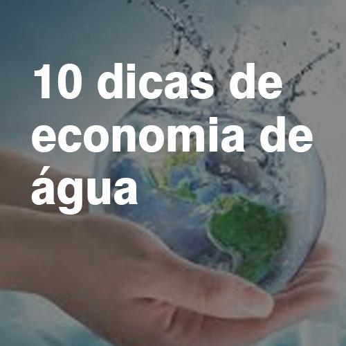 10 Dicas de economia de água
