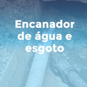 Encanador de água e esgoto